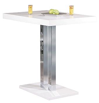 H24living Stehtisch Hochtisch Bartisch Tisch Hochglanz Metall