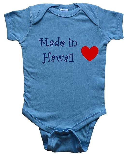 53dd0f1ea341 Amazon.com: MADE IN HAWAII - State-series - BigBoyMusic Baby One Piece  Bodysuit: Novelty T Shirts: Clothing