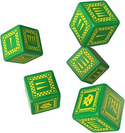 Q-workshop Q-Taller QWOORK30 - Orko Dados D6, Juego de Mesa, Verde / Amarillo (5): Amazon.es: Juguetes y juegos