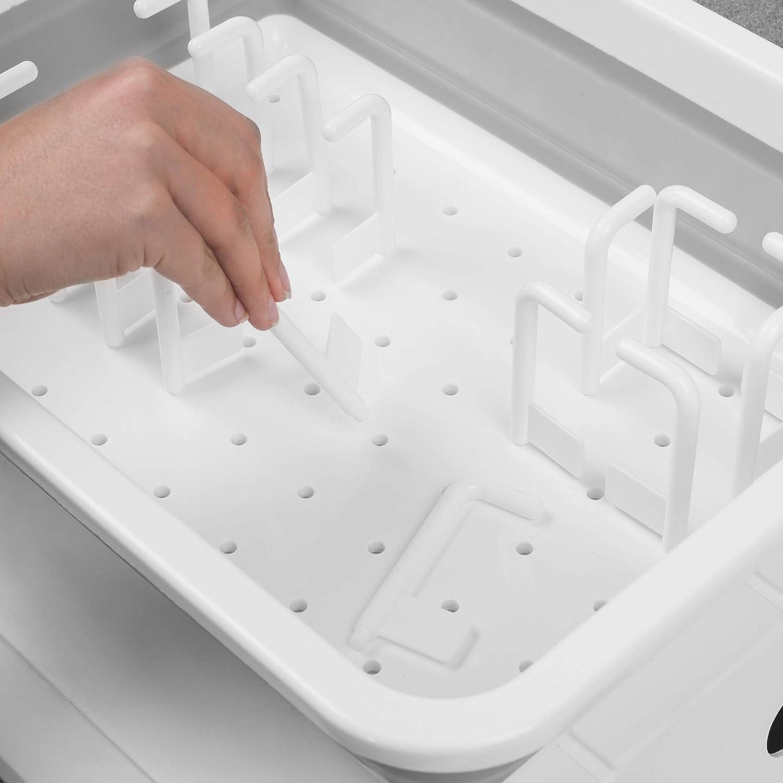 Kleeneze KL065391EU Escurreplatos plegable color blanco//gris pl/ástico
