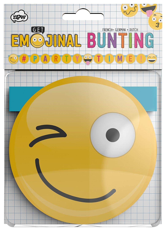 NPW- Banderillas de fiesta de emoji (NPW55207): Amazon.es ...