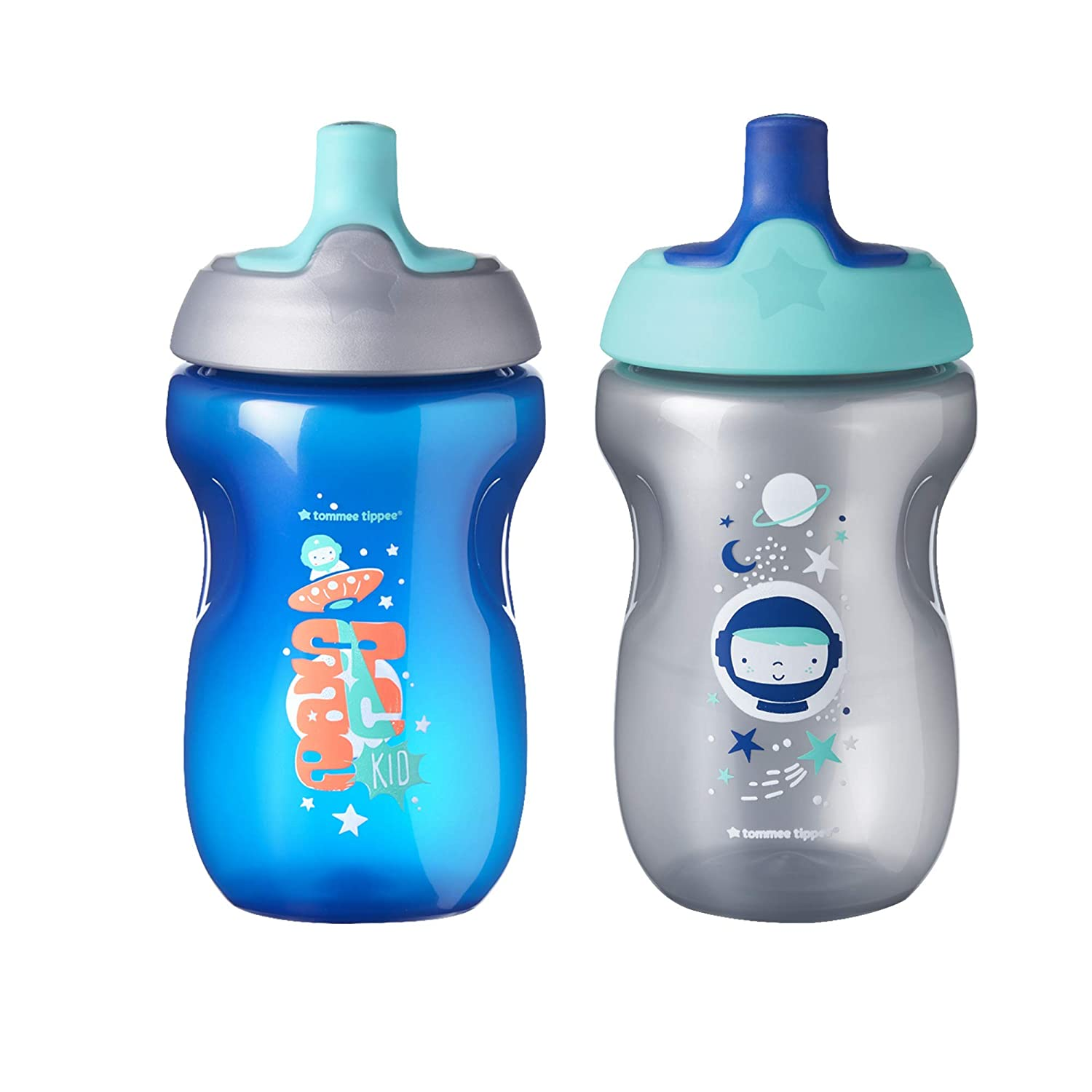 GREEN TOMMY TIPPEE FREE FLOW STRAW BOTTLE BABY SIPPY CUP 300ML 12M+