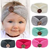 DaySeventh Baby Knitting Infant Girl Button Headbands Head Wrap Knotted Hair Band