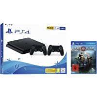 PlayStation 4 - Konsole (500GB, schwarz, E-Chassis) inkl. 2. DualShock Controller + God of War - Standard Edition