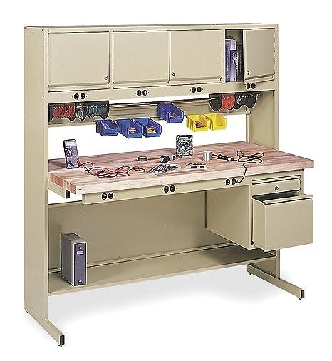 Excellent Technician Workbench 60Wx30Dx66 In H Amazon Co Uk Diy Ibusinesslaw Wood Chair Design Ideas Ibusinesslaworg