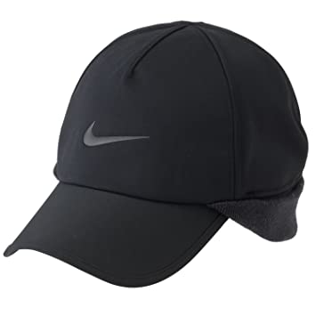 Nike Golf 2013 Unisex Protect Winter Cap with Ear Flap - Black ... 7ecfbe18b290