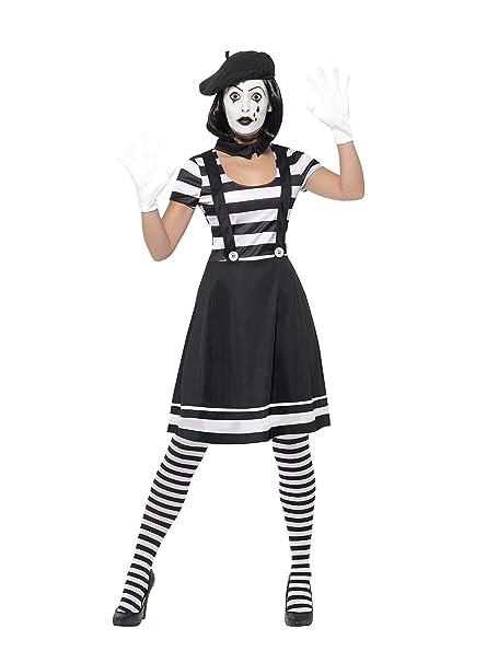 Amazon.com: Smiffys Womens Lady Mime Artist Costume: Clothing