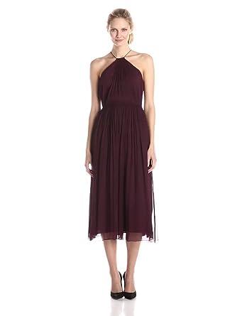 Amazon.com: Jill Jill Stuart Women\'s Halter Neck Crinkle Chiffon ...