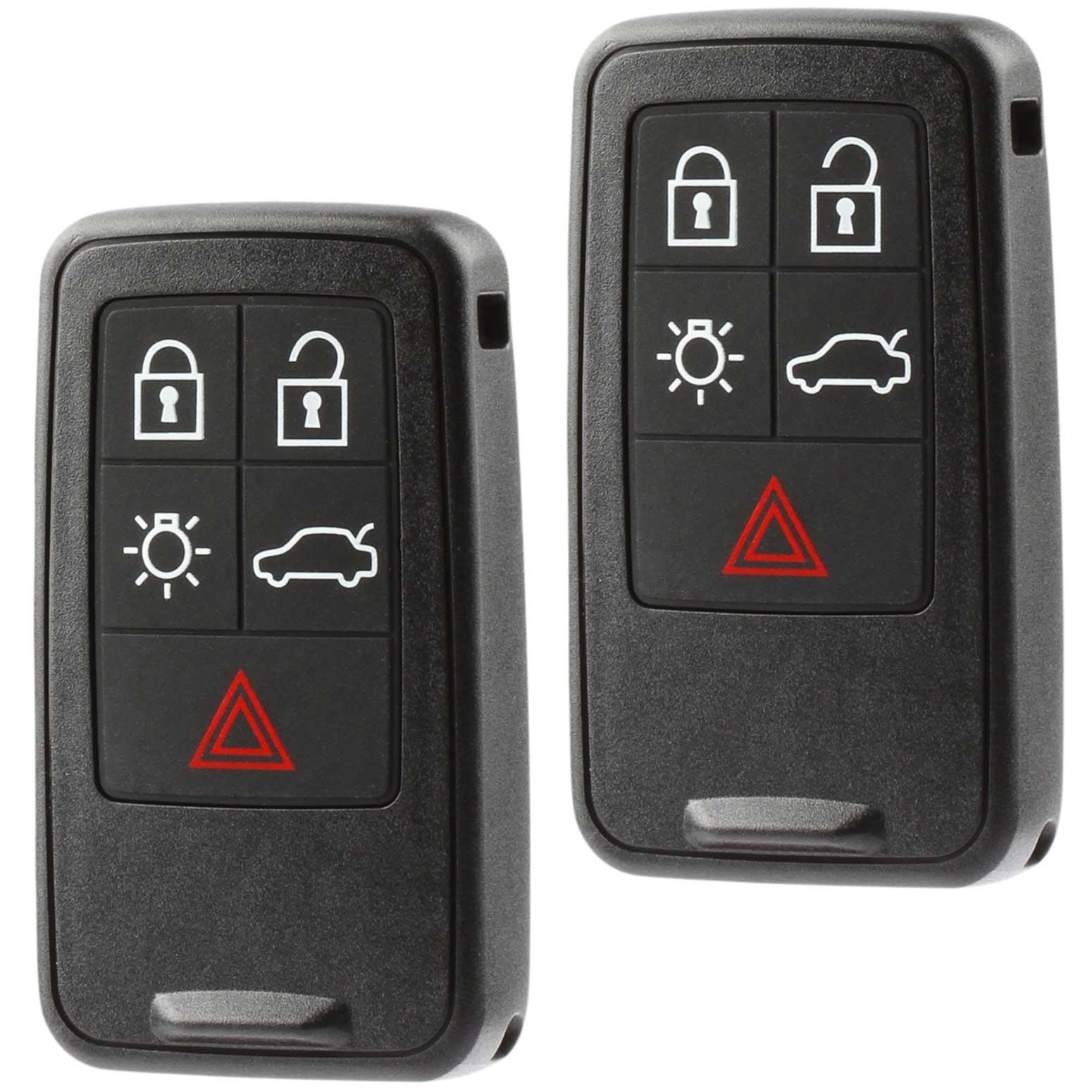 Car Key Fob Keyless Entry Smart Remote fits Volvo S60 S80 V60 V70 XC60 XC70 (KR55WK49264), Set of 2 by USARemote