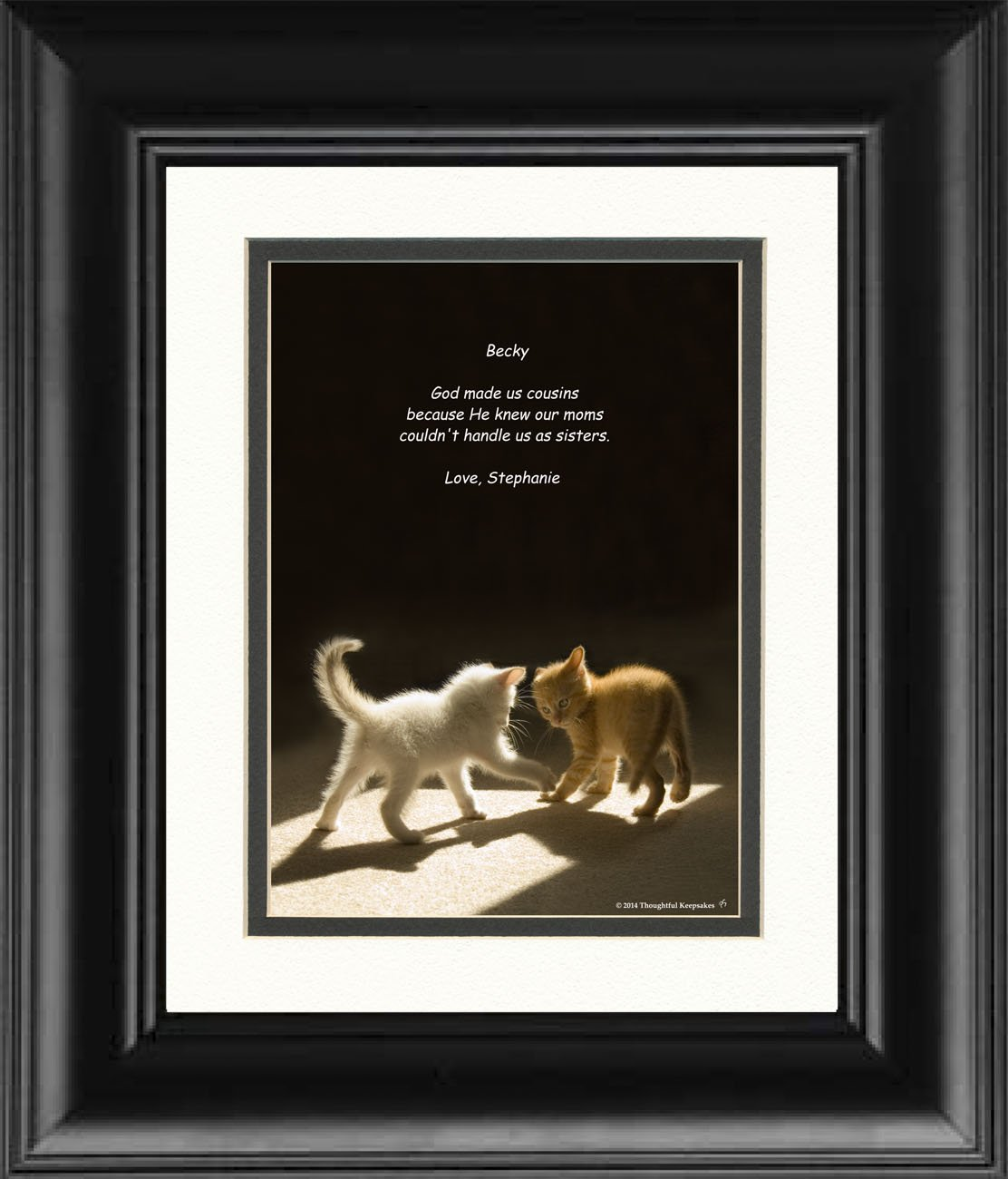 Amazoncom Framed Personalized Cousin Gift With God Made Us