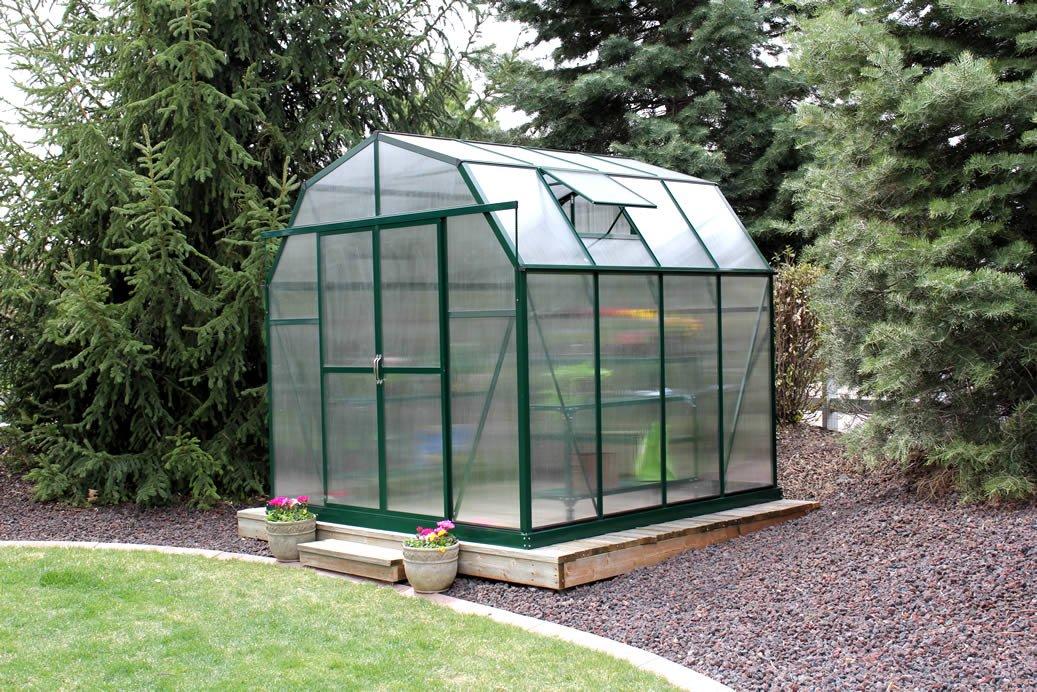 amazoncom grandio elite 8x12 greenhouse kit 10mm twinwall garden u0026 outdoor
