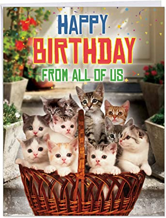 Personalised Birthday Card Female Sister Friend Daughter Mother Dancing Cats