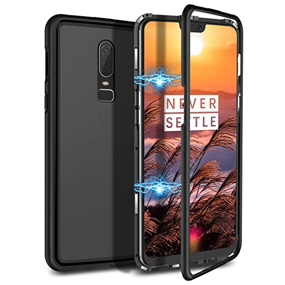 hot sale online 45414 bf789 Amazon.com: Magnetic Case for OnePlus 5,Clear Tempered Glass Back ...