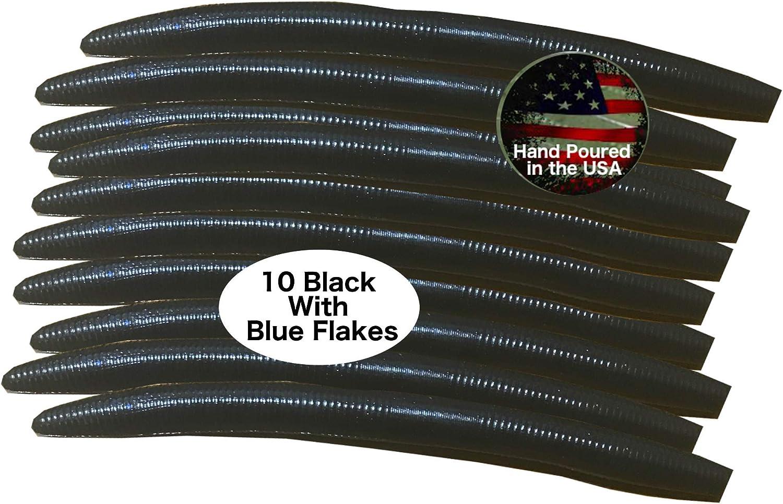 "15 pk 5/"" Senko-Style Worms-BULLFROG-Soft Plastic Bait-HEAVY SCENT /& SALT-USA"
