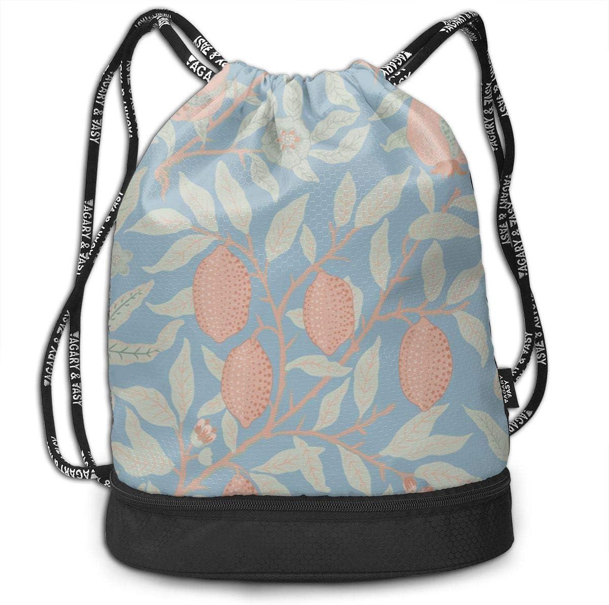 HUOPR5Q Lemon Drawstring Backpack Sport Gym Sack Shoulder Bulk Bag Dance Bag for School Travel