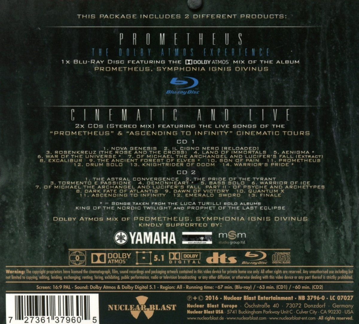 Buy Prometheus: the Dolby Atmos Ex Online at Low Prices in