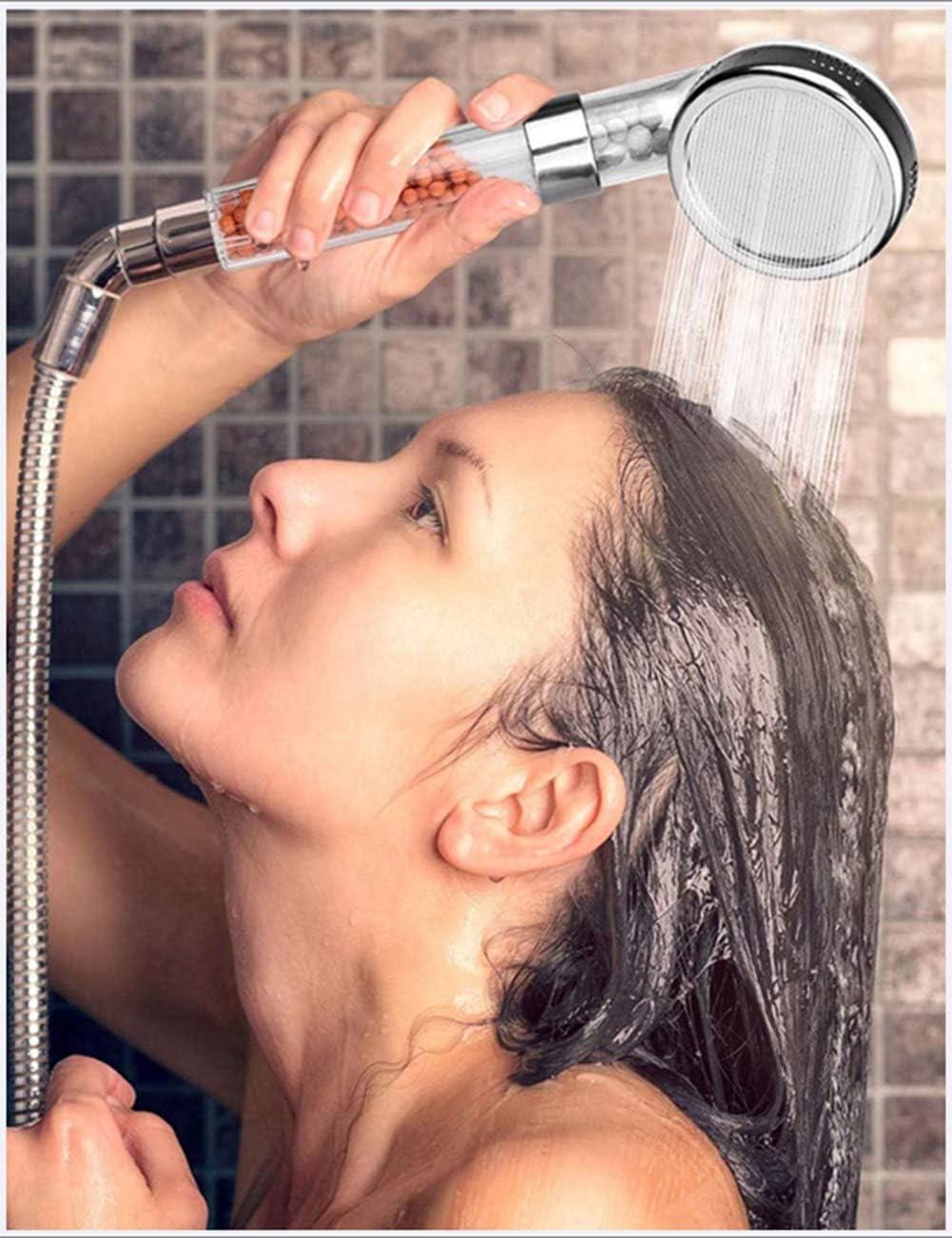 /Économie deau /À Haute Pression Showerhead Boule D/énergie Anion Portable Douche avec Remplacement De Tuyau Et Porte Pommeau Douche