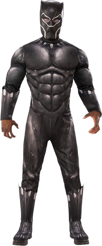 Rubie's Men's Marvel Black Panther Deluxe Costume, Standard