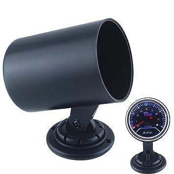 Republe 52mm Black Carbon Grain Universal Single Holes A-Pillar Racing Car Truck Boat Gauge Meter Mount Holder Dash Pod