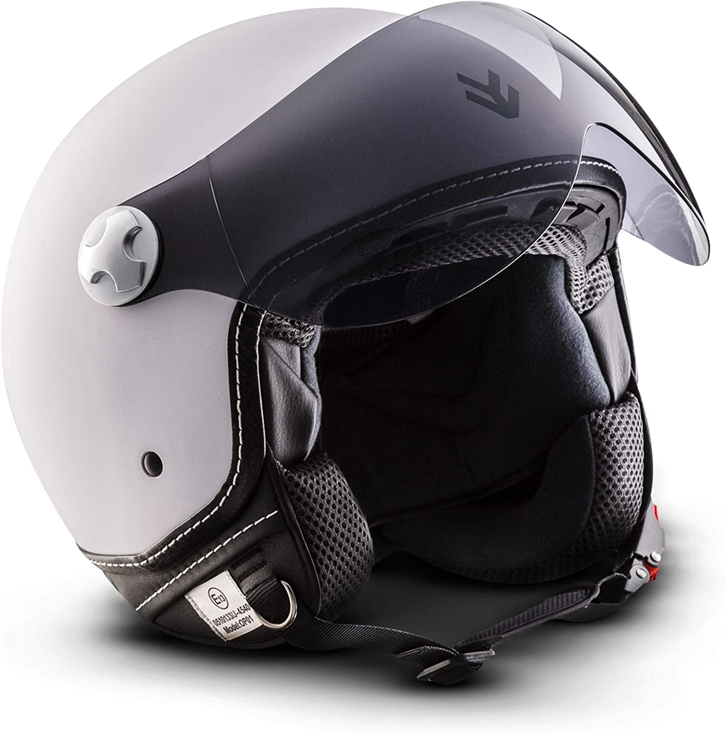 XXL DOT certified Italy//Multicoloured ARMOR Helmets AV-47 Open Face Helmet 63-64cm