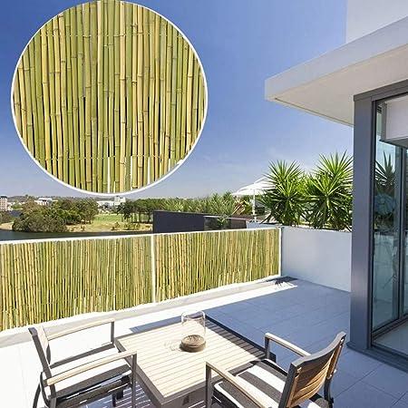 GDMING Pantalla para Balcón Bambú Privacidad Vallas Decorativas Protector Solar Impermeable Parabrisas para Terraza Jardín Al Aire Libre Cubierta De Protección, 18 Tamaños: Amazon.es: Hogar