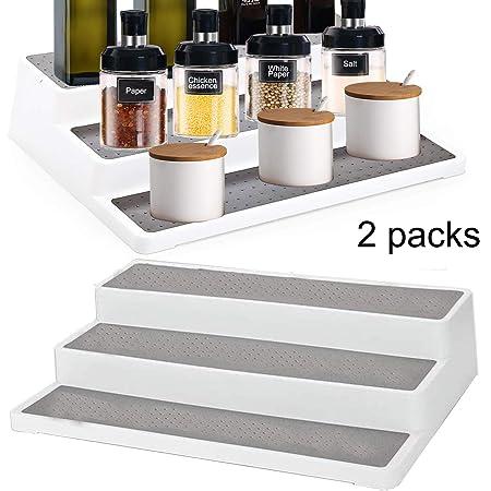 armadietto da cucina per dispensa Alliebe Set di 2 portaspezie antiscivolo a 3 ripiani 25,4 cm