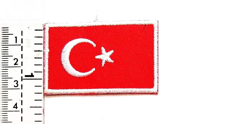 Parche con diseño de bandera turca de Turquía con diseño de luna ...