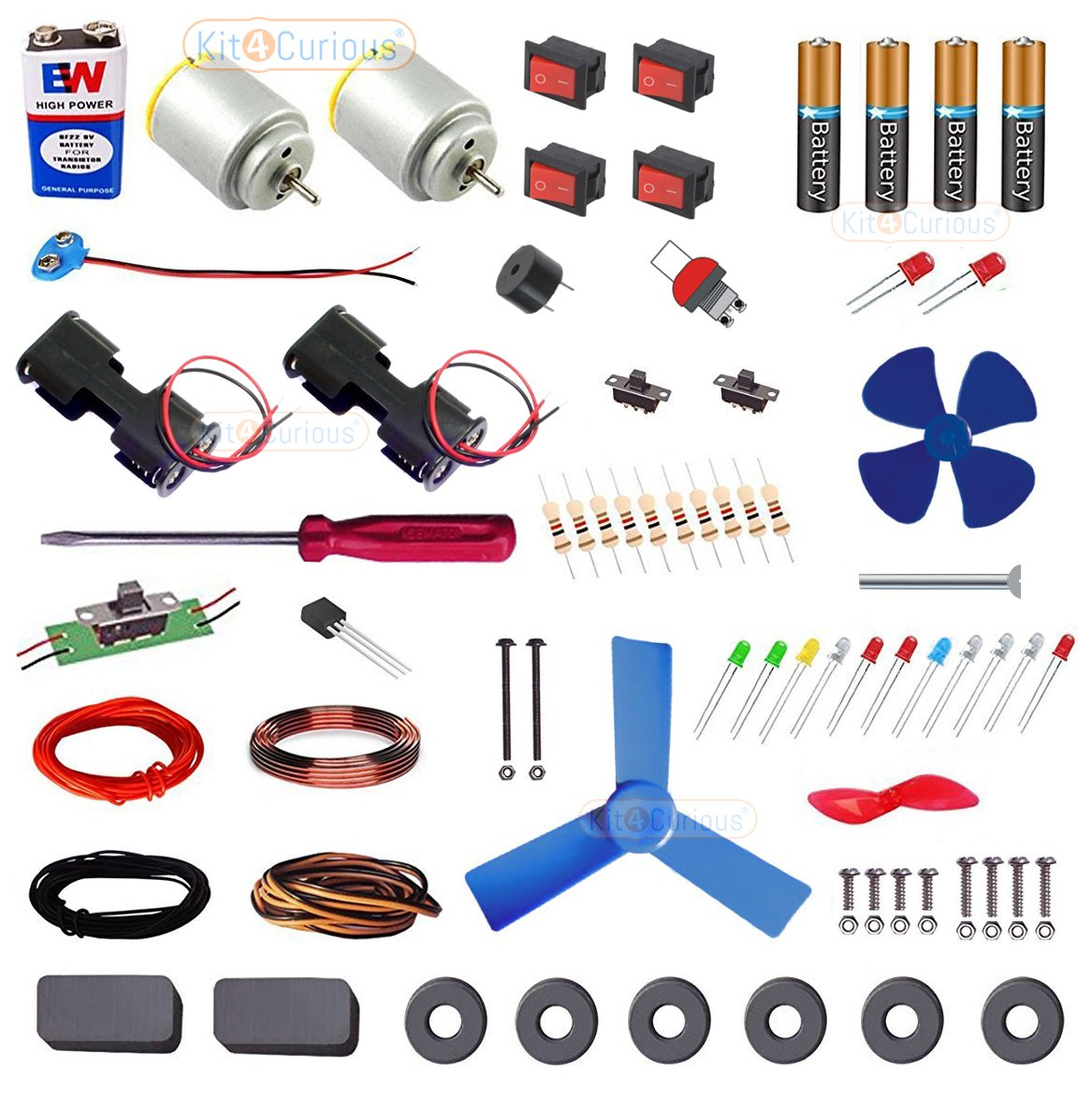 Kit4curious Electro Kit Electronic Diy Components With Guide Amazon Wiring Diagrams For A Ceiling Fan And Light Doityourself Industrial Scientific