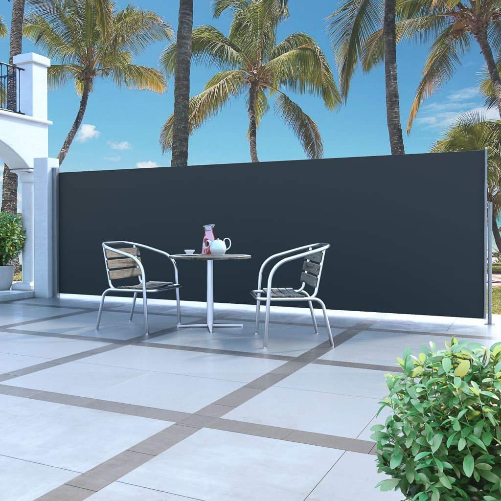 Vidaxl Seitenmarkise 180x500cm Sichtschutz Windschutz Sonnenschutz