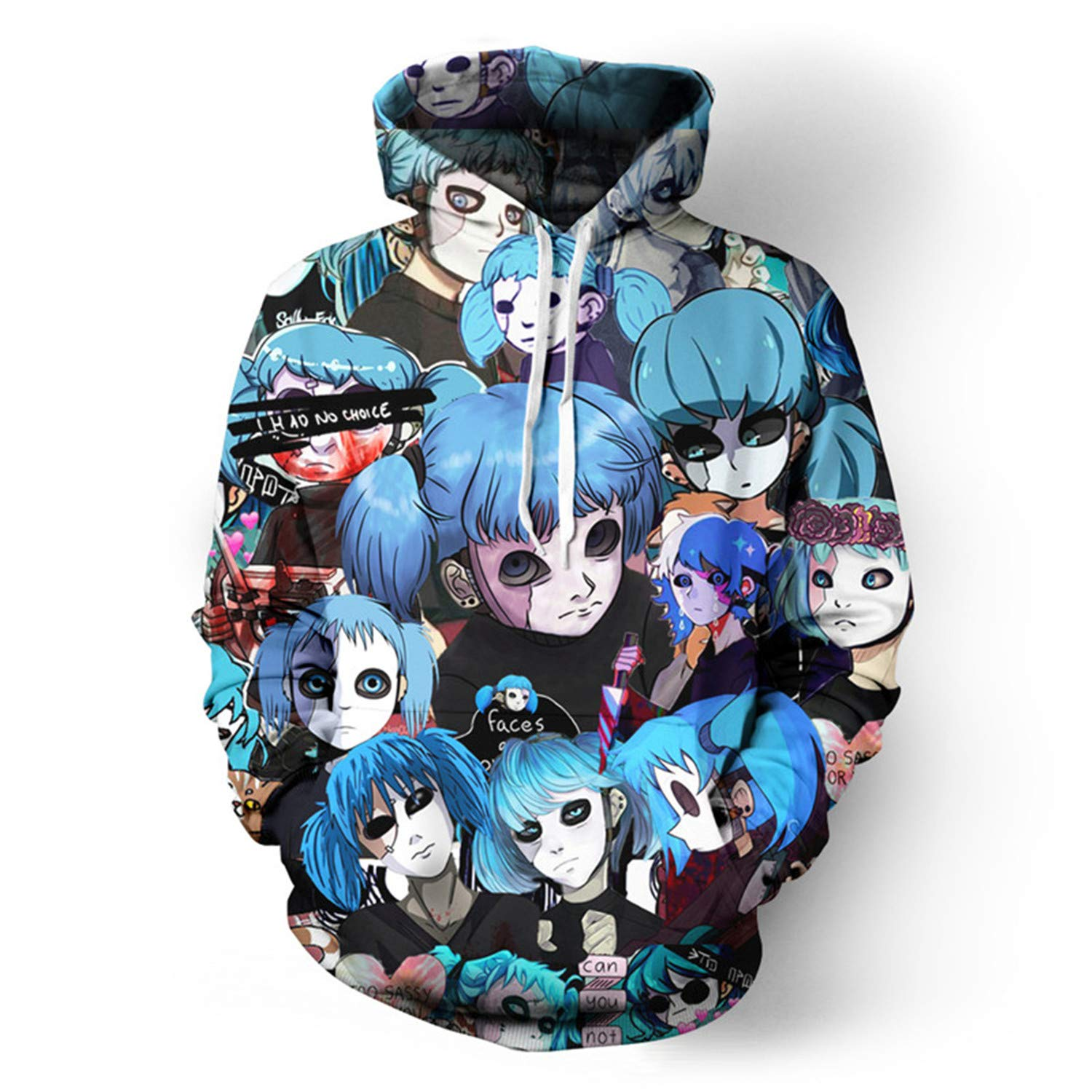New Game Face Cool Boys Hoodies Unisex Anime Tops Summer//Autumn Streetwear