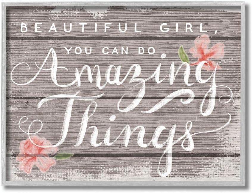 Luxury Stupell Industries Beautiful Girl Flower Ranking TOP12 Word Inspirational Kids