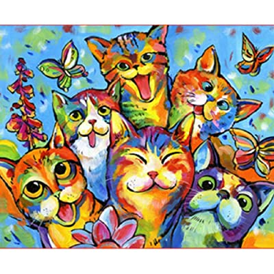 Q&K Wooden Puzzles for Adults 500 Pieces Cat Party Adults Classic Art Collection Creative Toys Colorful Puzzle Game: Toys & Games [5Bkhe1203936]