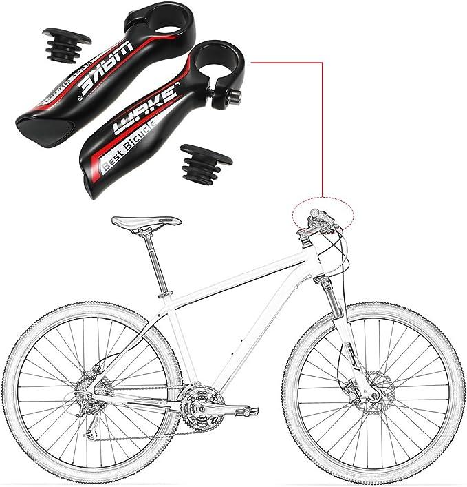 Explopur Extremo del Manillar de Bicicleta - 1 par Aluminun Aleación MTB Bar End Mountain Bike Manillar End Bike Ciclismo Road Bike Parts 22.2Mm Bike Bar End Grips: Amazon.es: Deportes y aire