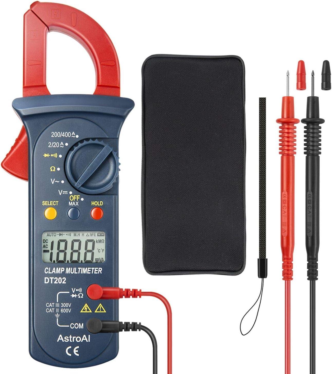 Mini Multim/ètre Digital Testeur de Tension DC//Voltm/ètre //R/ésistance //Continuit/é //Diodes AstroAI Multim/ètre Num/érique Portable