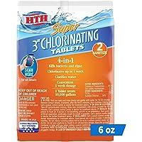 HTH 42032 Super 3-inch Chlorinating Tablets Swimming Pool Sanitizer, 6 oz
