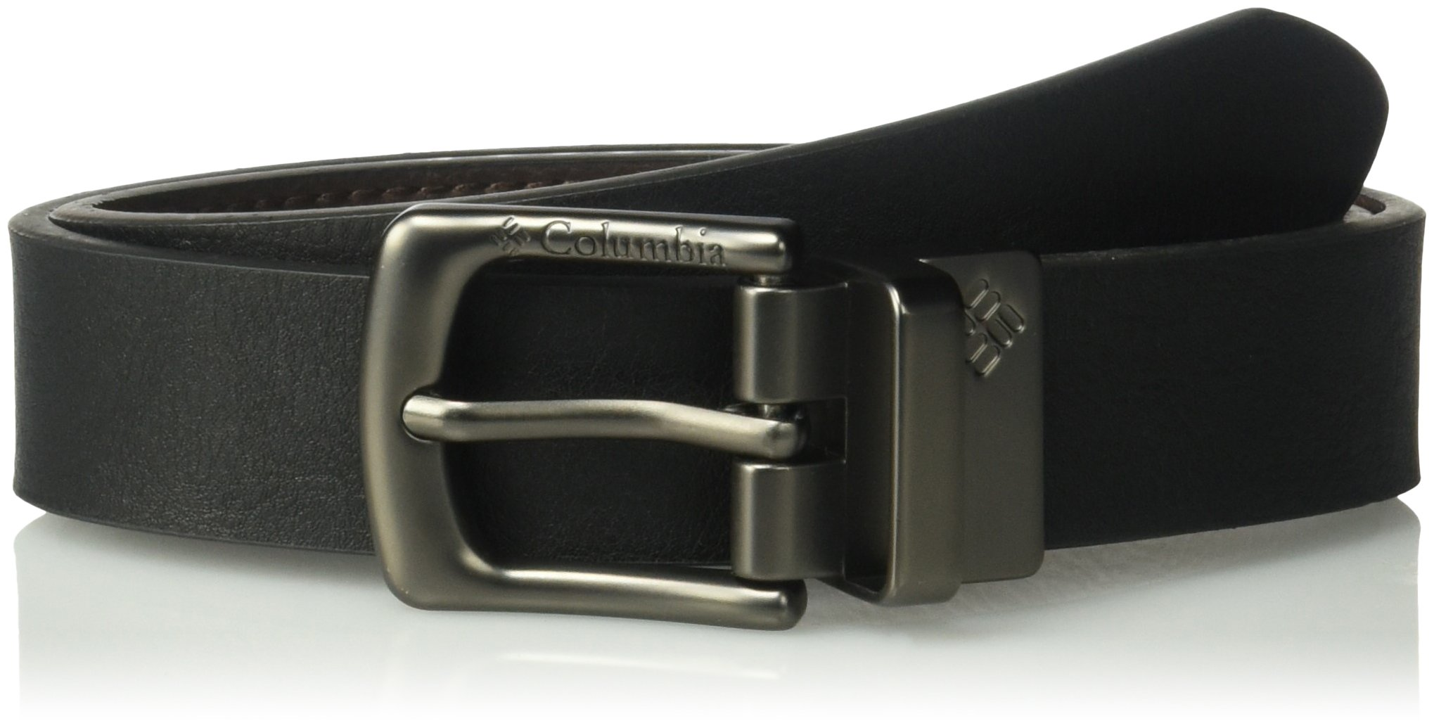 Columbia Big Boys' 1'' Wide Classic Reversible Belt, Black/Brown, Large