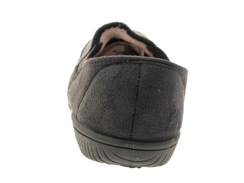 para Hombre (niños de Pelo con Forro Zapatillas Zapatos de Zapatillas/Mocasín Slip en Mulas Mocasín Botas Ante Sintético tamaño UK 6 - 12, Color, ...