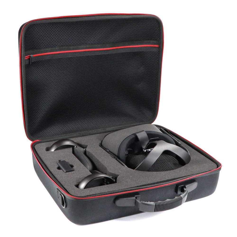 KT-CASE Oculus Quest 2 Case, Oculus Quest All-in-one VR Gaming Headset Storage Box Travel Case (Black)