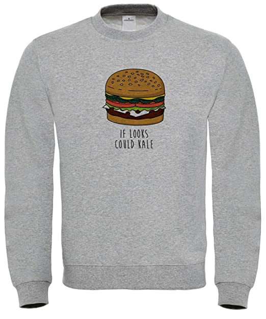 Benefitclothing i Looks Could Kale Kill Burger Lover Sweatshirt: Amazon.es: Ropa y accesorios