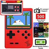 DigitCont Retro Mini Handheld Arcade, Built-in with 500 Classic Games Double Players Mode Miniature Console Handheld…