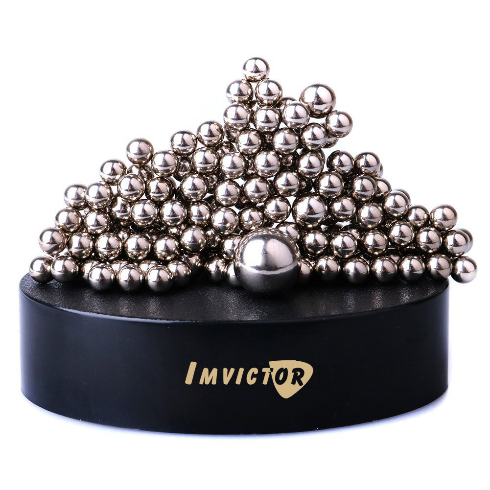 Magnetic Sculpture Desk Toy for Intelligence Development and Stress Relief, Stress Reducer Great for Relieves ADHD Anxiety,Gift for Children and Christmas (Set of 171 Balls, 1 Magnet Base)