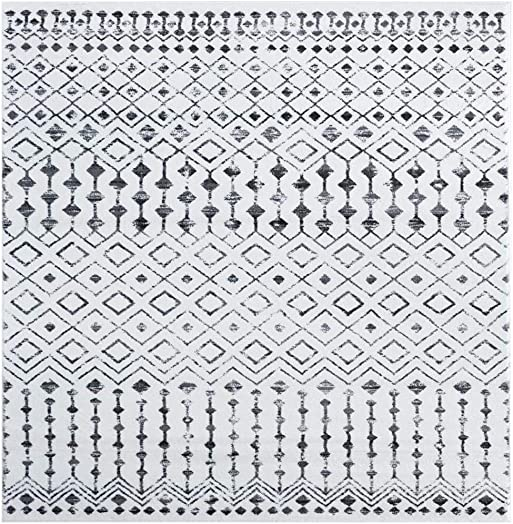 Luxe Weavers Magnolia Moroccan Grey Off White Abstract 8×10 Area Rug