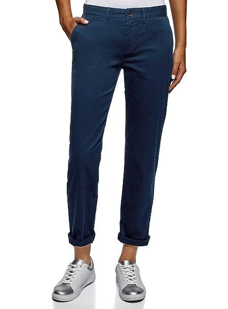 9b253400c9 oodji Ultra Donna Pantaloni Chino in Cotone
