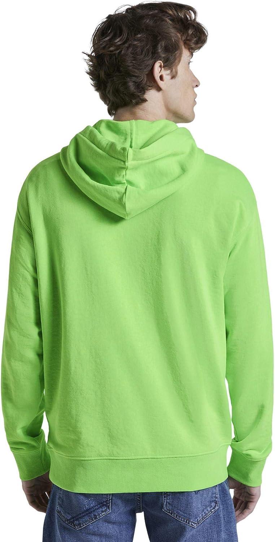 TOM TAILOR Denim Strick & Sweatshirts Oversized Kapuzensweater Neon Lime Green