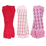 NEWBORN 3 pack of Baby boy or girl leg warmers (Girl Set 2)