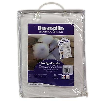 Dunlopillo PLGUEH140190DPO - Protección de colchones de 140 x 190 cm, Color Blanco
