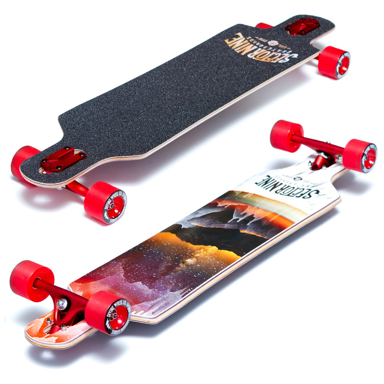 Sector 9 Meridian Complete Longboard Red (Pro Build)