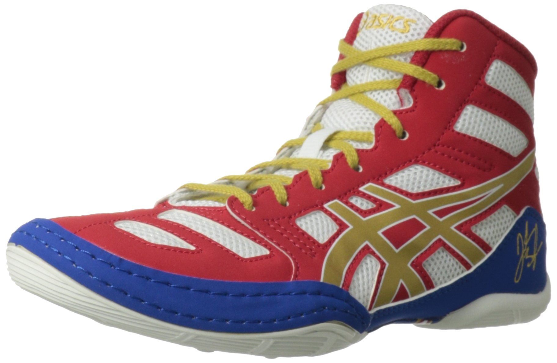 ASICS Kids Unisex JB Elite GS (Little Kid/Big Kid) True Red/Olympic Gold/White Sneaker 2 Little Kid M