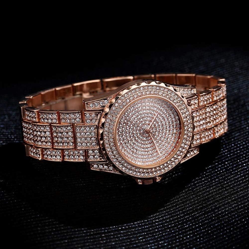 Liandd Orologio al Quarzo da Donna Orologio da Donna Casual alla Moda Orologio da Donna al Quarzo in Oro con Diamanti in Cristallo Rose gold