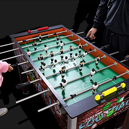 Futbolines Consolas De Juegos para Adultos Juguetes Mesa De Juego Gimnasia Al Aire Libre Máquina De Fútbol De Mesa Estándar para Niños Adultos 8 Juguetes y Juegos: Amazon.es: Hogar
